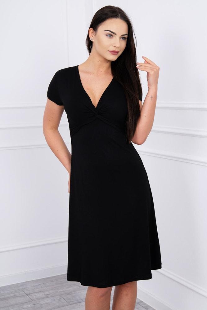 Černé dámské šaty - L Kesi ks-sa8884bl