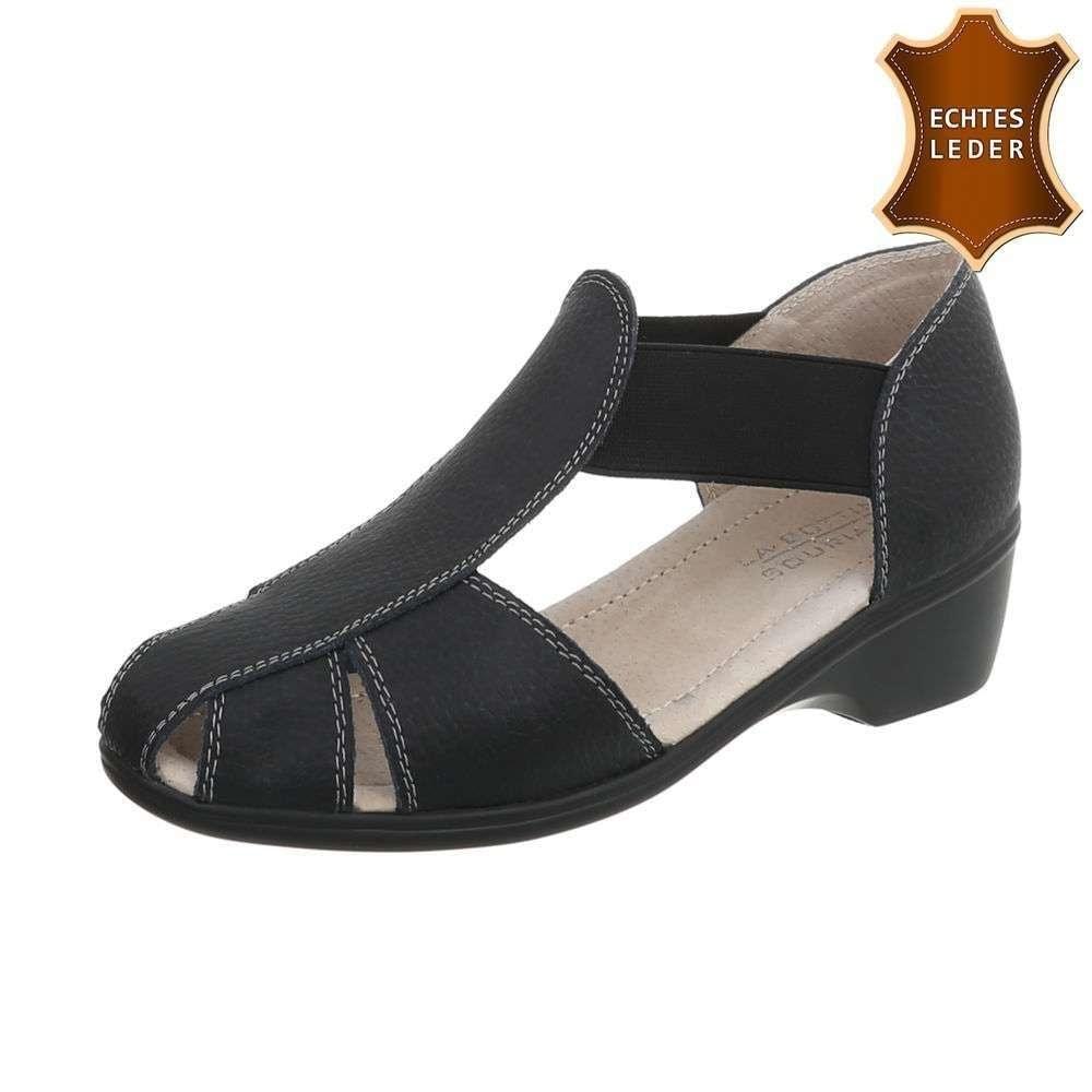 Čierne kožené sandále - 38 EU shd-osa1224bl