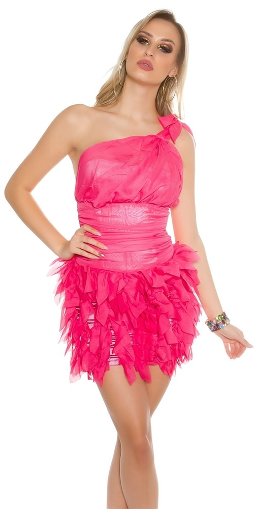 Dámske ružové koktejlové šaty - 38 Koucla in-sat1429pi