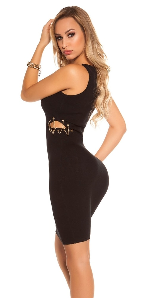 Čierne dámske šaty Koucla in-sat1706