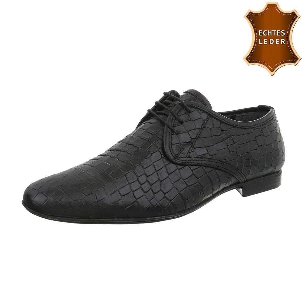 Pánske čierne spoločenské topánky - 44 shp-osp1051bl