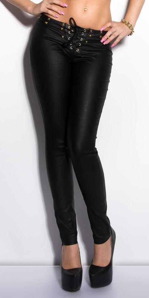 Nohavice so šnurovaním - čierne Koucla in-ka1118bl