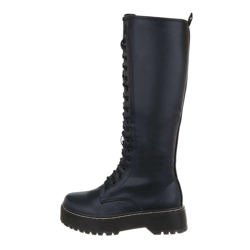 Čierne vysoké čižmy - 36 EU shd-oko1219bl