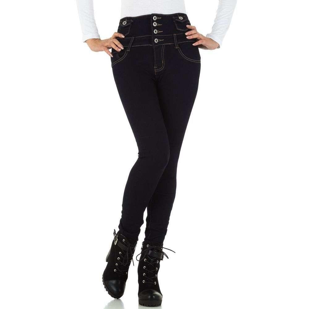 Dámske džínsy s vyšším pásom - L/40 EU shd-ri1268