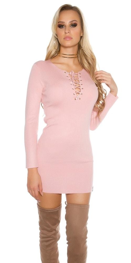 Dámske úpletové mini šaty Koucla in-sat1288spi