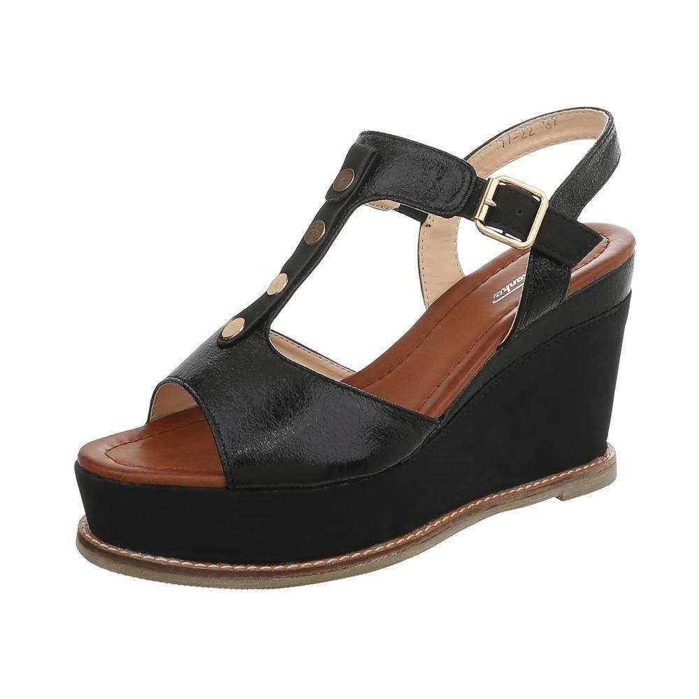 Čierne sandálky na kline - 40 EU shd-osa1201bl