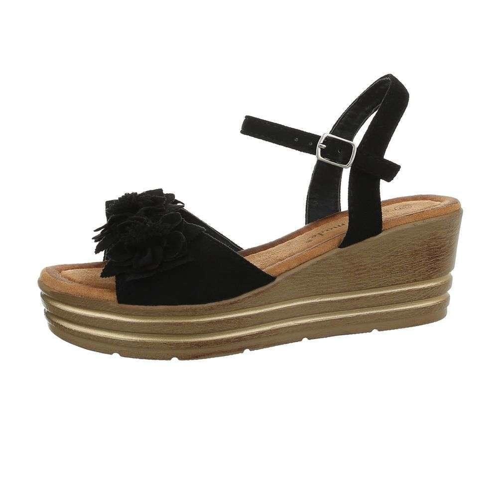 Černé letní sandálky - 39 EU shd-osa1354bl