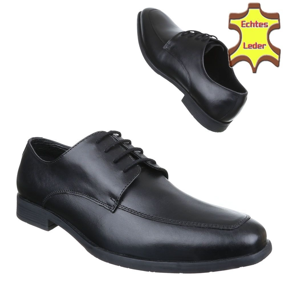 Pánske čierne spoločenské topánky shp-osp1069bl