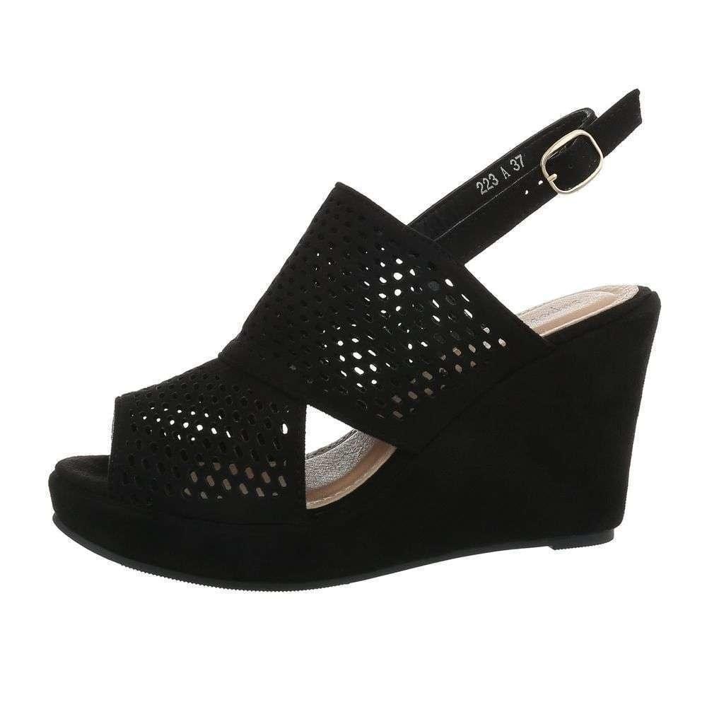Čierne sandále na kline - 39 EU shd-osa1298bl
