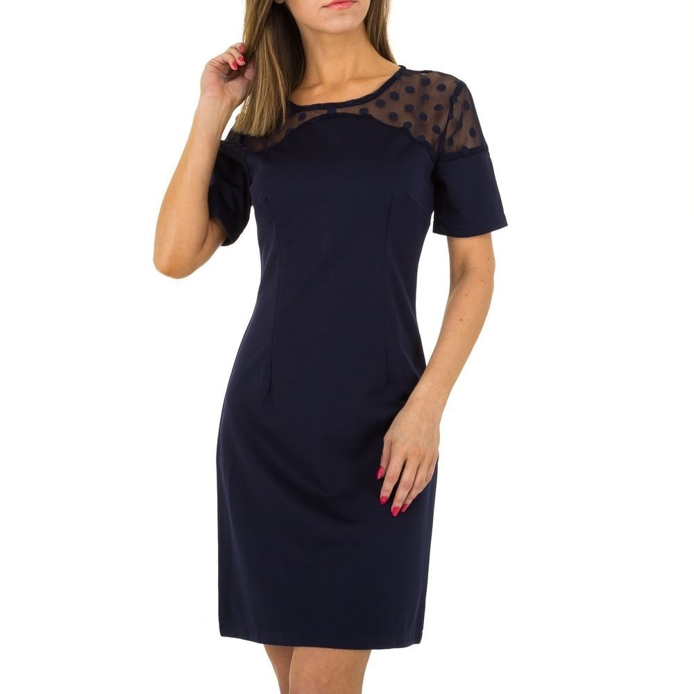 Elegantné modré šaty - M/38 EU shd-sat1070tm