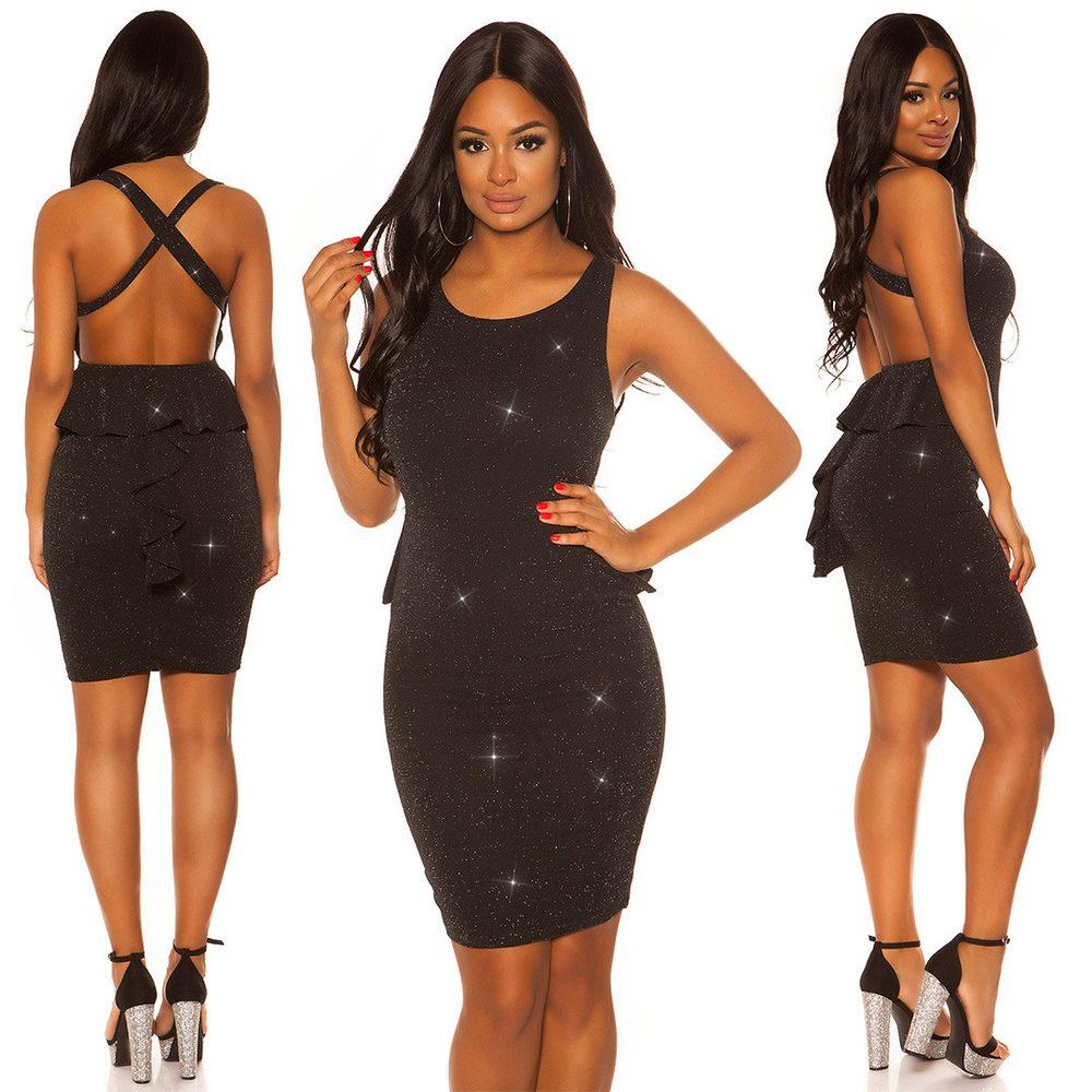 Čierne dámske šaty Koucla in-sat2100bl