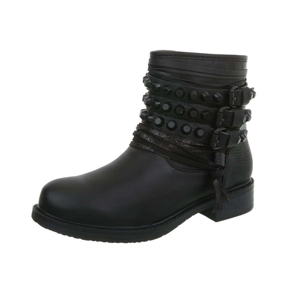Čierne členkové topánky - 38 EU shd-okk1130bl
