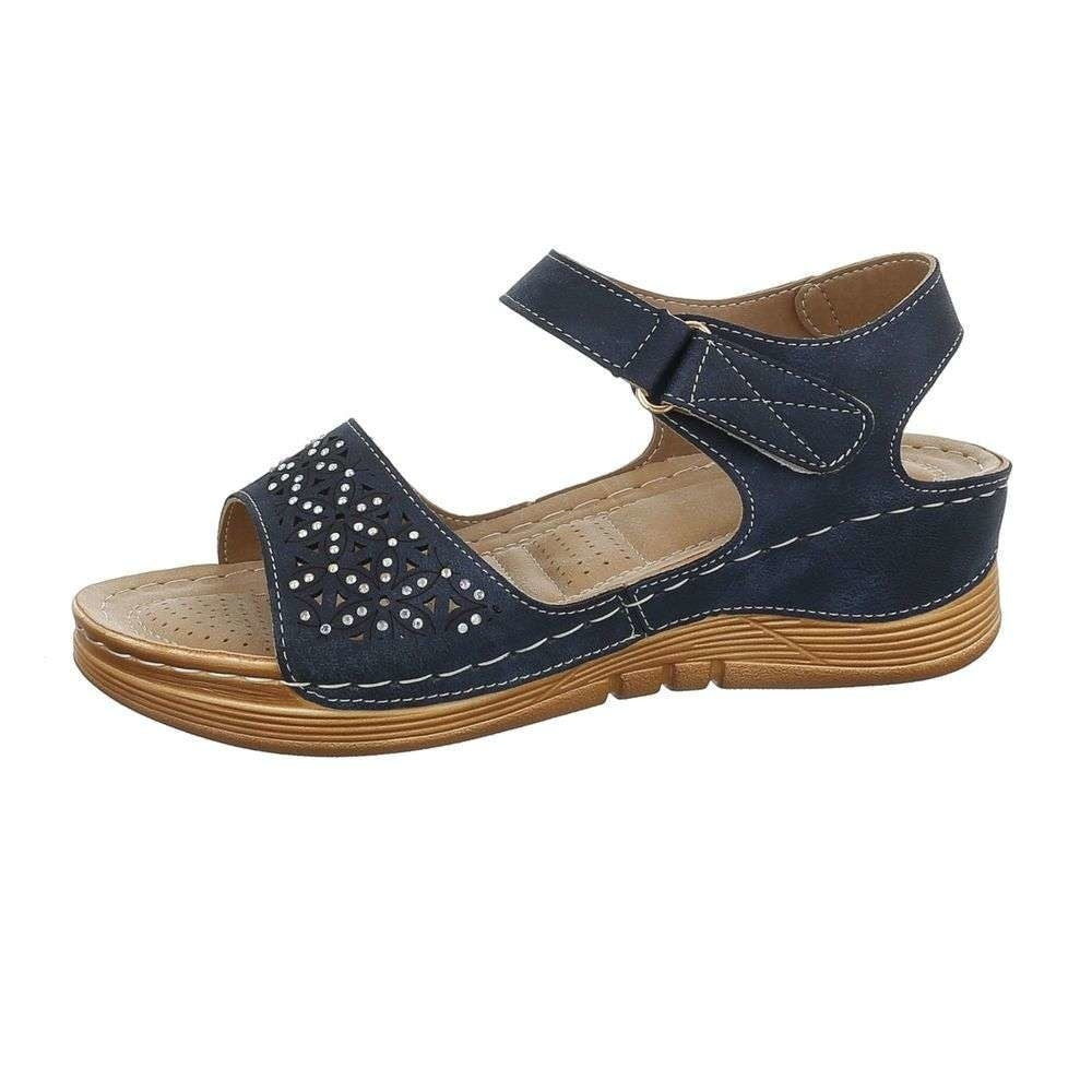 Modré dámske sandále - 39 EU shd-osa1180tm