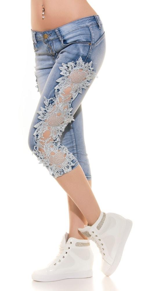 Módne džínsy s čipkou Koucla in-ri1071wh