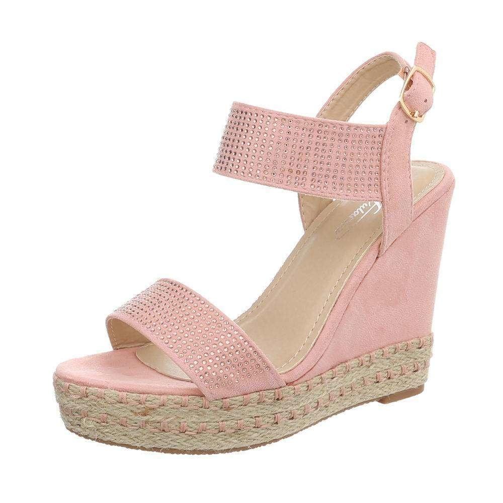 Letní sandály na klínku růžové - 39 EU shd-osa1198pi