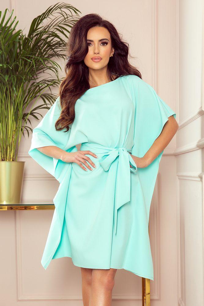 Motýlkové dámské šaty - S/M Numoco nm-sat287-6