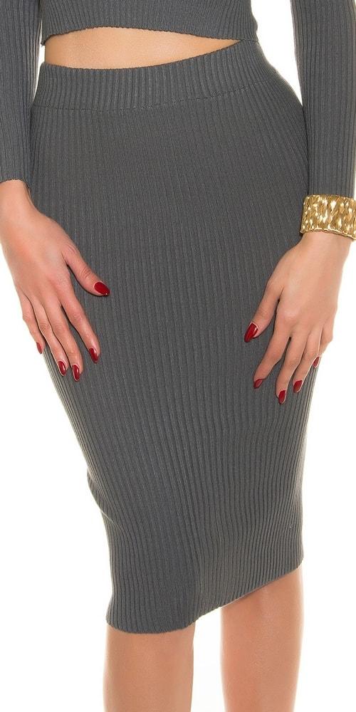 Dámske úpletové sukne - Uni Koucla in-su1056gr
