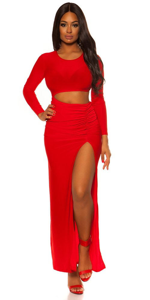 Dámské červené plesové šaty - S/M Koucla in-sat2103re