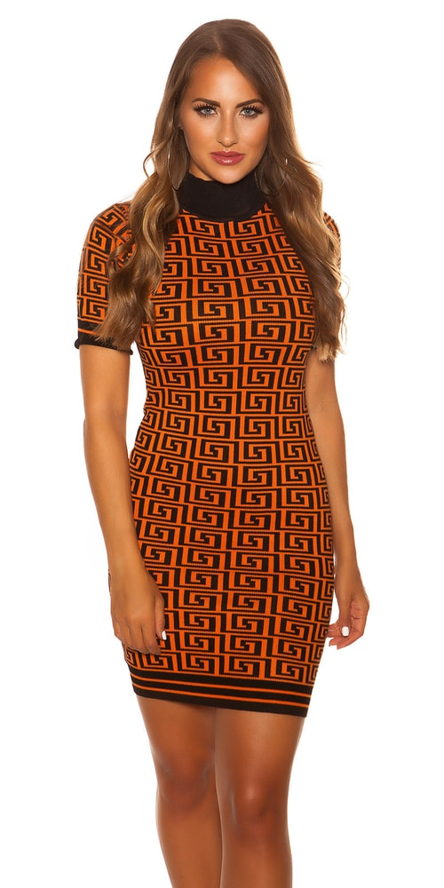 Vzorované dámské šaty - S/M Koucla in-sat2072or