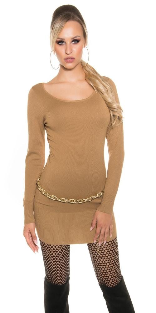 Úpletové dámske mini šaty Koucla in-sv1332ca