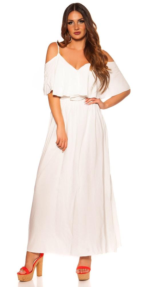 Letní dlouhé šaty - M/L Koucla in-sat2056wh