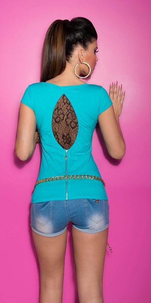 Dámske tričko s čipkou Koucla in-tr1190tu