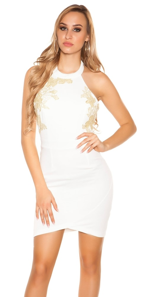 Krémové šaty - L Koucla in-sat1202cr