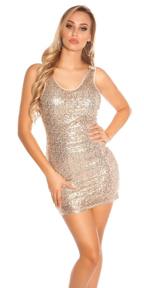 Mini šaty s flitrami - M/L Koucla in-sat1624ca
