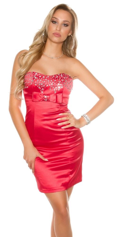 Červené dámske šaty - 38 Koucla in-sat1063re