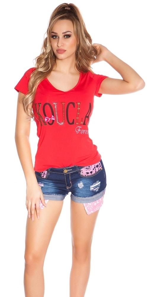 Dámske tričko s čipkou Koucla in-tr1186re