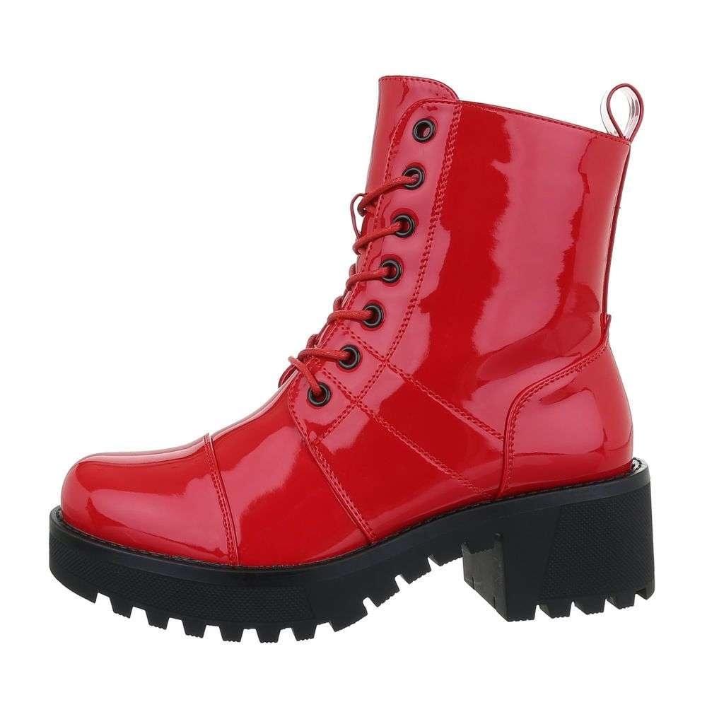 Červené členkové topánky EU shd-okk1158re