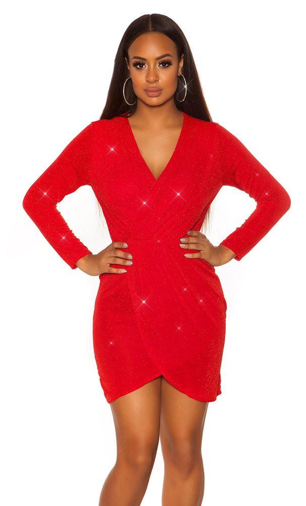 Dámské červené mini šaty Koucla in-sat1925re