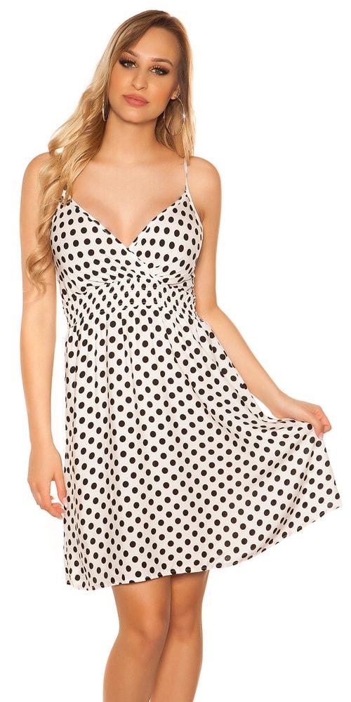 Dámske šaty s bodkami Koucla in-sat2032wh