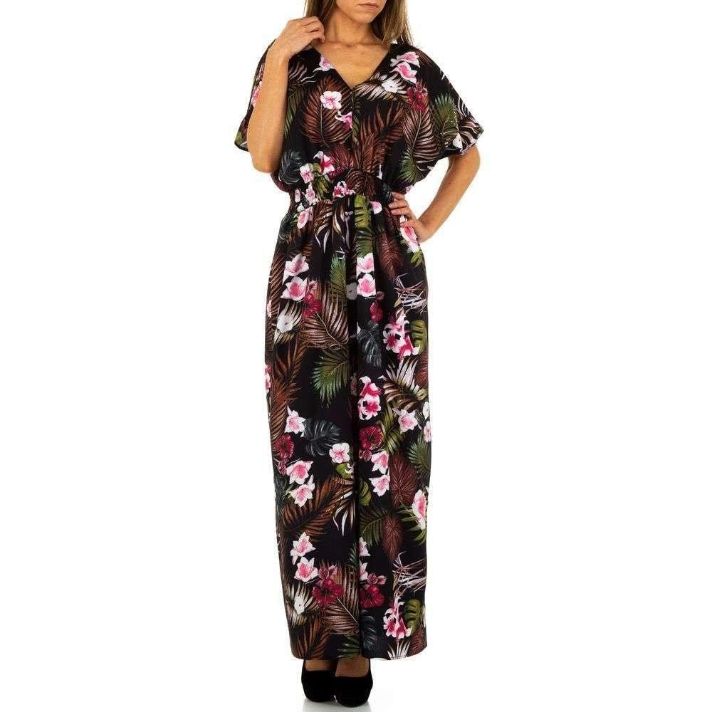 Dámske dlhé šaty s kvetmi EU shd-sat1088bl