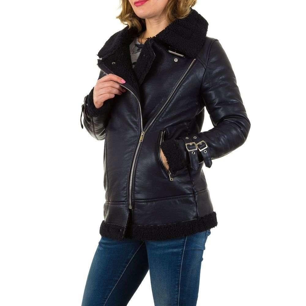 Zateplená dámská koženková bunda shd-bu1007tm
