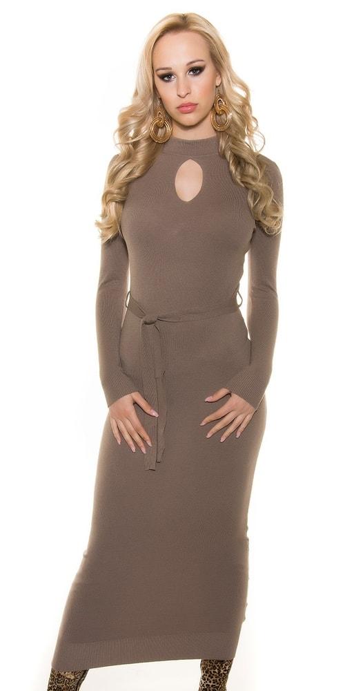 Úpletové dlhé dámske šaty Koucla in-sat1146ca