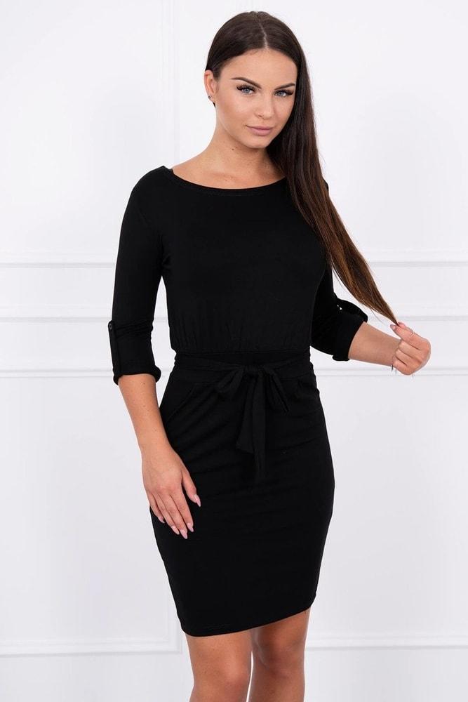 Elegantné čierne šaty - XL Kesi ks-sa8925bl