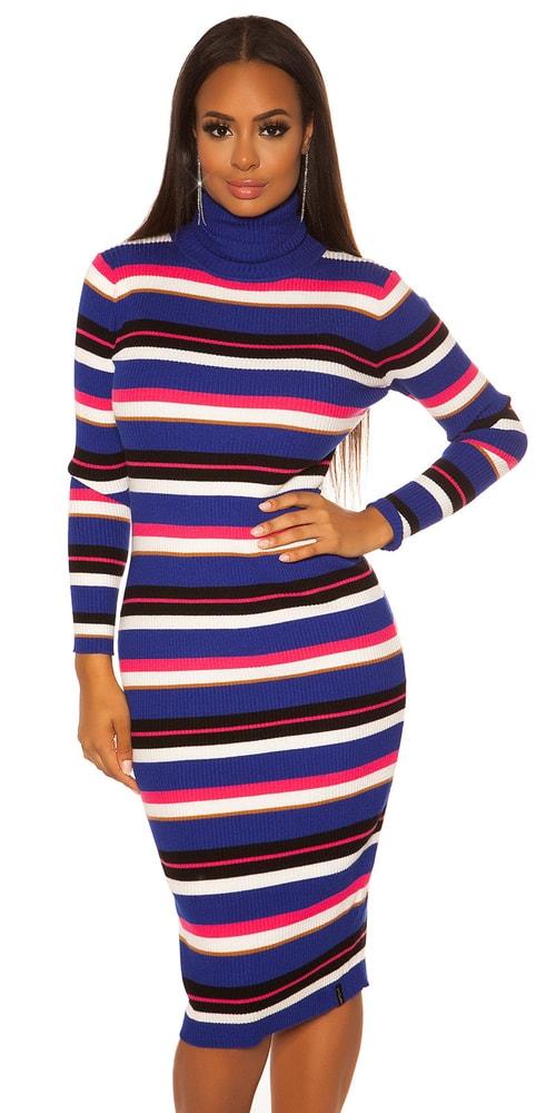 Pruhované úpletové šaty Koucla in-sat1428mo