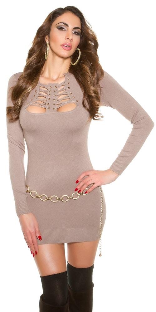 Krátke úpletové šaty Koucla in-sat1120ca