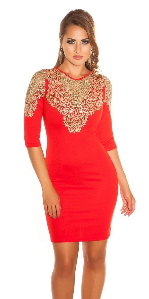 Večerné červené šaty Koucla in-sat1219re