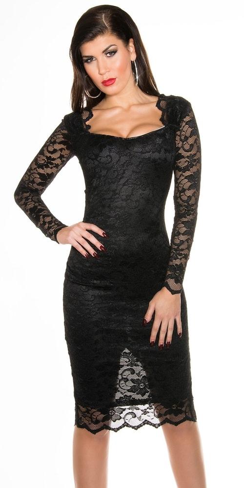 Spoločenské šaty - čierne Koucla in-sat1009bl