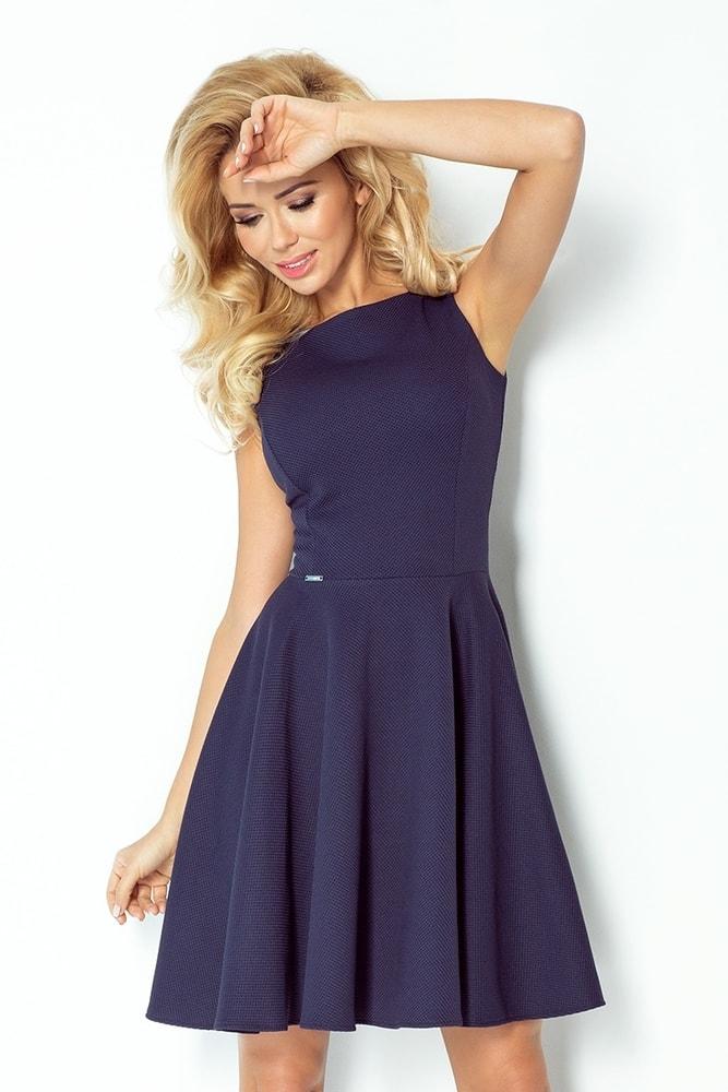 Šaty dámske - tmave modre 98-1 - L Numoco nm-sat98-1