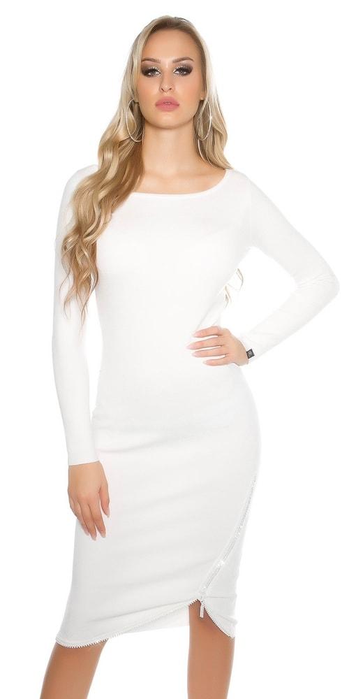 Pletené dámske šaty Koucla in-sat1425wh