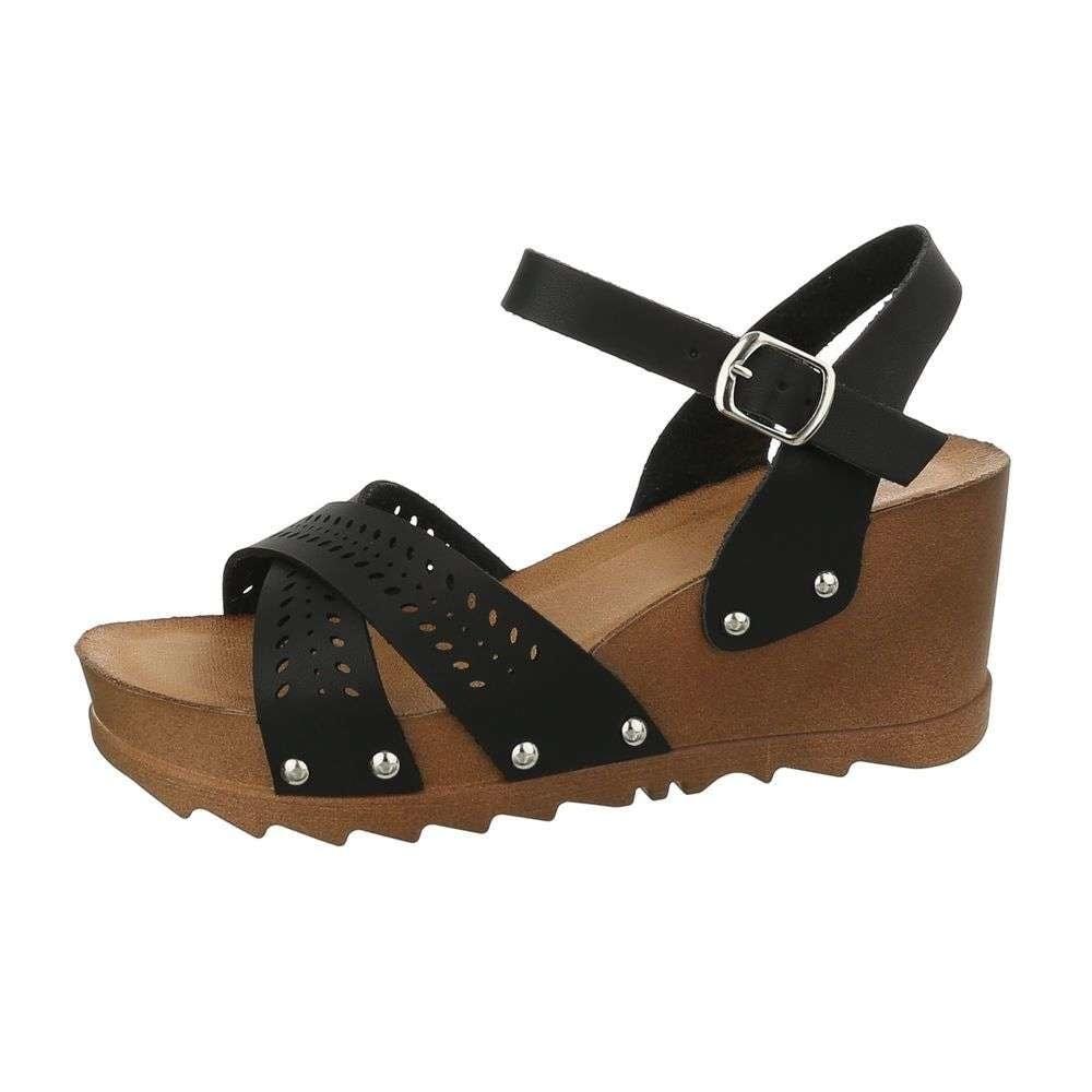 Dámské sandály na klínu EU shd-osa1181bl
