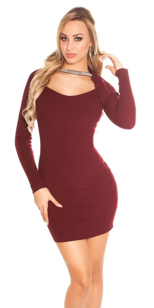 Dámské úpletové mini šaty Koucla in-sat1690bo