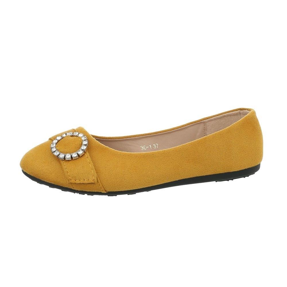 Dámské baleríny žluté - 36 EU shd-oba1063ge