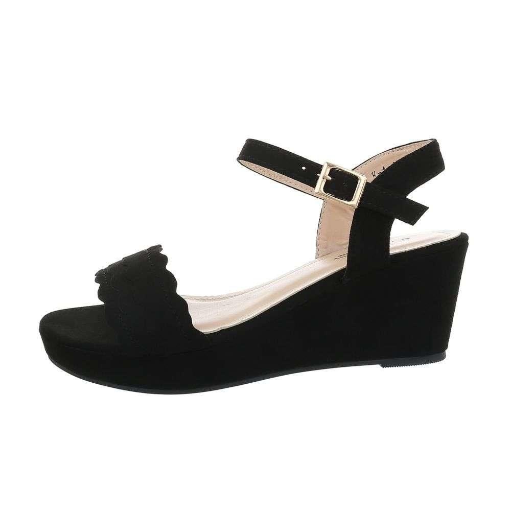 Čierne sandále na kline - 37 EU shd-osa1397bl