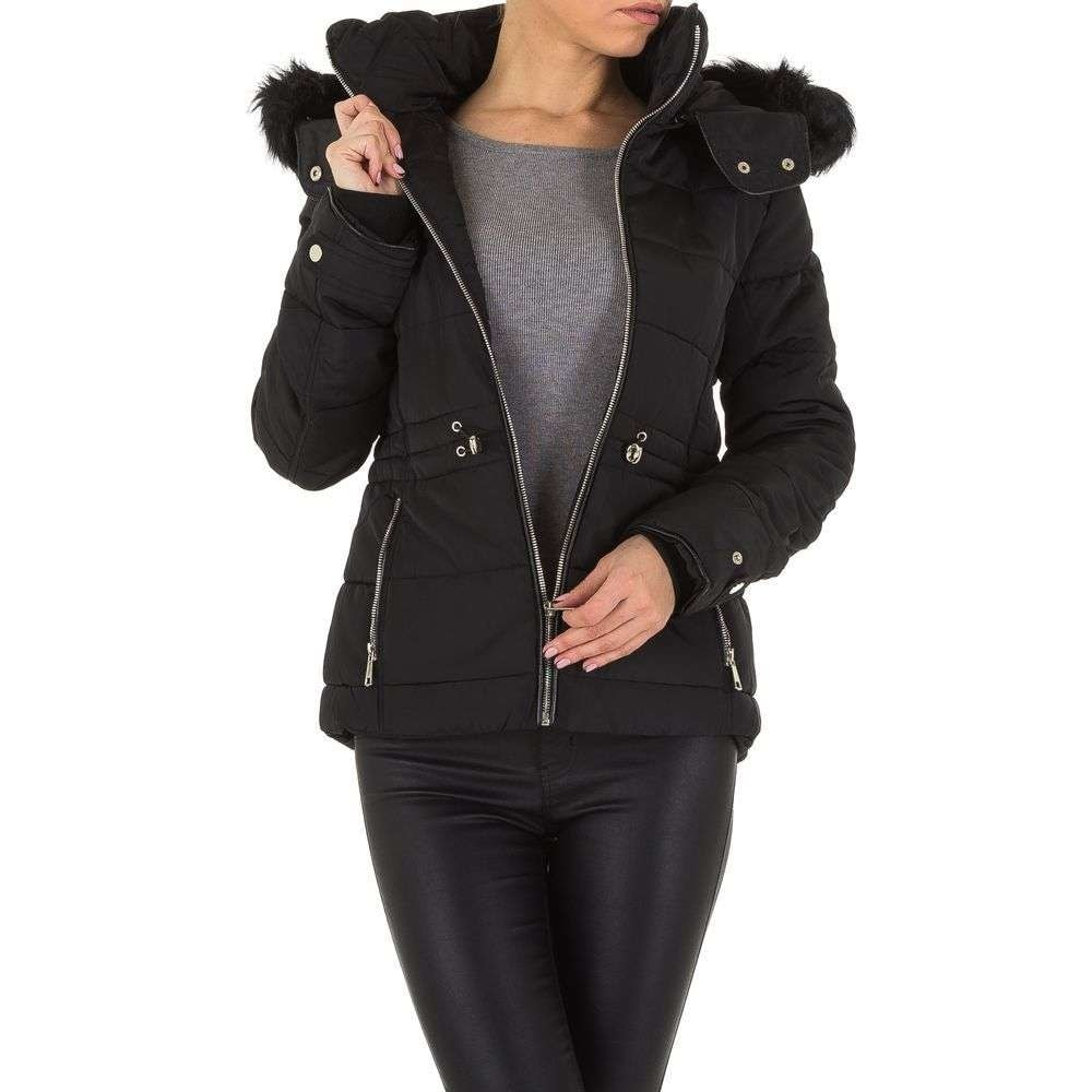 Čierna zimná dámska bunda shd-bu1005bl