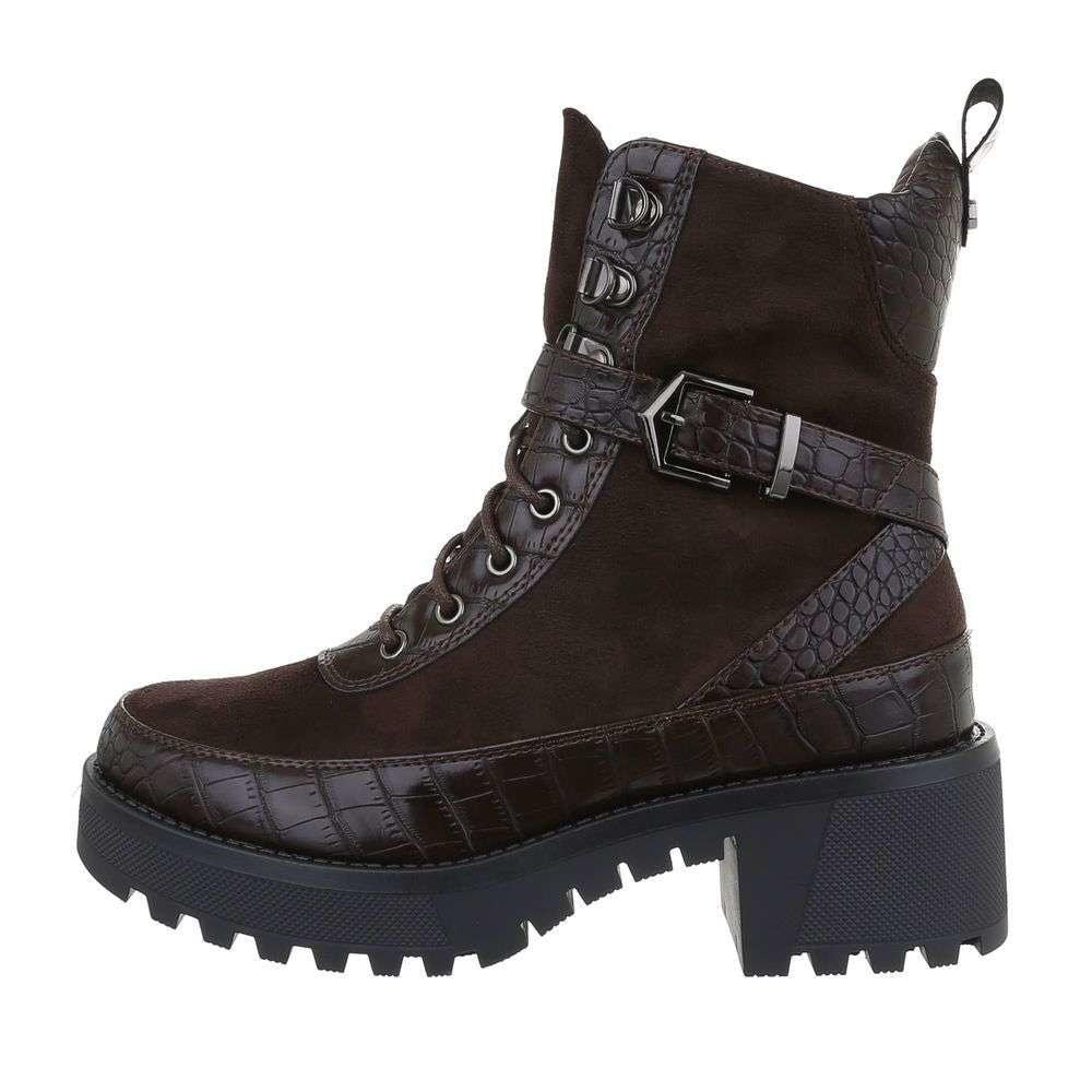 Hnědé kotníkové boty EU shd-okk1162hn