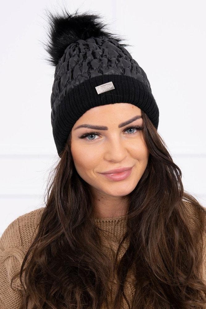 Čierna zimné čiapky Kesi ks-cek160bl